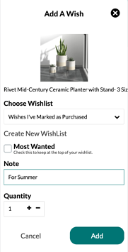 Add who the item is for in the note field