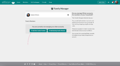 Family Manager - Add a New Child Account